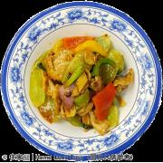 醬爆豬頸肉炒萵筍
