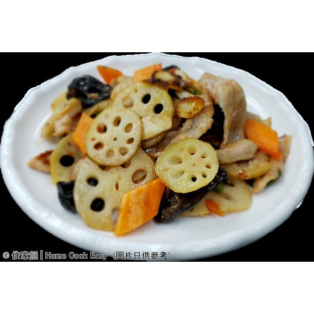 南乳藕片雲耳炒豬頸肉