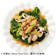 蝦醬西蘭花炒鮮魷